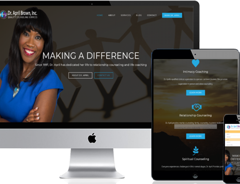 Dr. April Brown (Website Design)